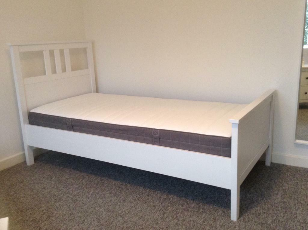 ikea hemnes bed frame with hovag pocket sprung mattress in north finchley london gumtree. Black Bedroom Furniture Sets. Home Design Ideas