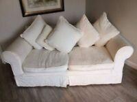 sofa in white material