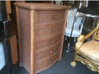Reduced ..large cane chest of drawers
