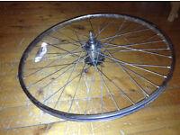 Sturmey Archer Rear wheel – 3 speed internal hub gear – 26 inch – vintage