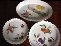 Royal Worcester Evesham dishes