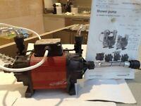 Twin Grundfos shower pump
