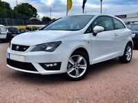 2014 64 Seat Ibiza Fr Cr 1.6 Tdi in Ice White 3 door fsh -2 keys -MINT CONDITION in & out £30 tax