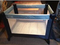 Travel cot, mamas and papas. Includes base mattress. In very good condition.