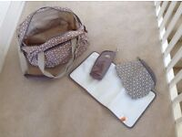 2 Nappy Changing Bags - okiedog Khanda Shuttle and Celeb (Taupe)