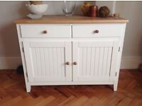 SIDEBOARD, CREAM AND PINE