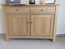 Next oak effect sideboard Malvern range - relatively new