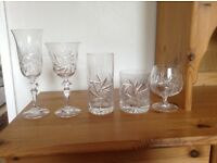 Crystal Glasses - pinwheel design