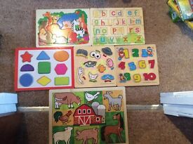 Selection of Wooden Jigsaws