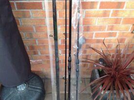Carp fishing rods x3 2x 12ft 1x9ft brand new