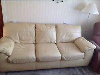 3 seater cream sofa bed excellent condition used as a bed only 3 times