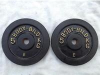 2 x 5kg Body-Bild Standard Cast Iron Weights
