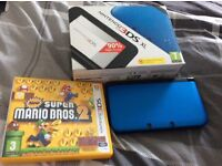 Blue 3DS XL With Super Mario Bros. 2 Hardly Used