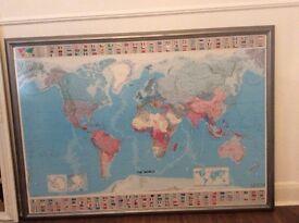 World Map - Giant Framed Wall Print
