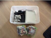 XBOX 360 Console with 2 Controllers, Kinnect and 13 Games