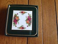 Royal Albert old country rose coasters