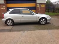 VERY TIDY UNMODIFIED HONDA CIVIC 2000 X REG HONDA CIVIC 1.6 VTI D.O.H.C.