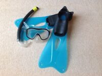Boys mask and snorkel set - inc. flippers