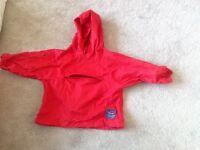 Excellent condition Jojo maman Bebe foldaway waterproof jacket 12-18 months
