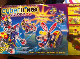 CYBER K'NEX ULTRA 2.0 Boxed As New. SOUND, MOTION & LIGHTS ACTION