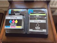 LEXMARK 100 BLACK, and LEXMARK 100XL multi pack