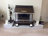 Real Marble Hearth in three moveable pieces