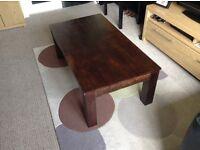 Large Chunky Mango Wood Coffee Table