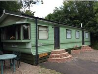 Static caravan sited in Shropshire, Willerby model