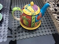 Colourful teapot.