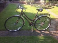 Ladies town bike 9 gears good condition was £140