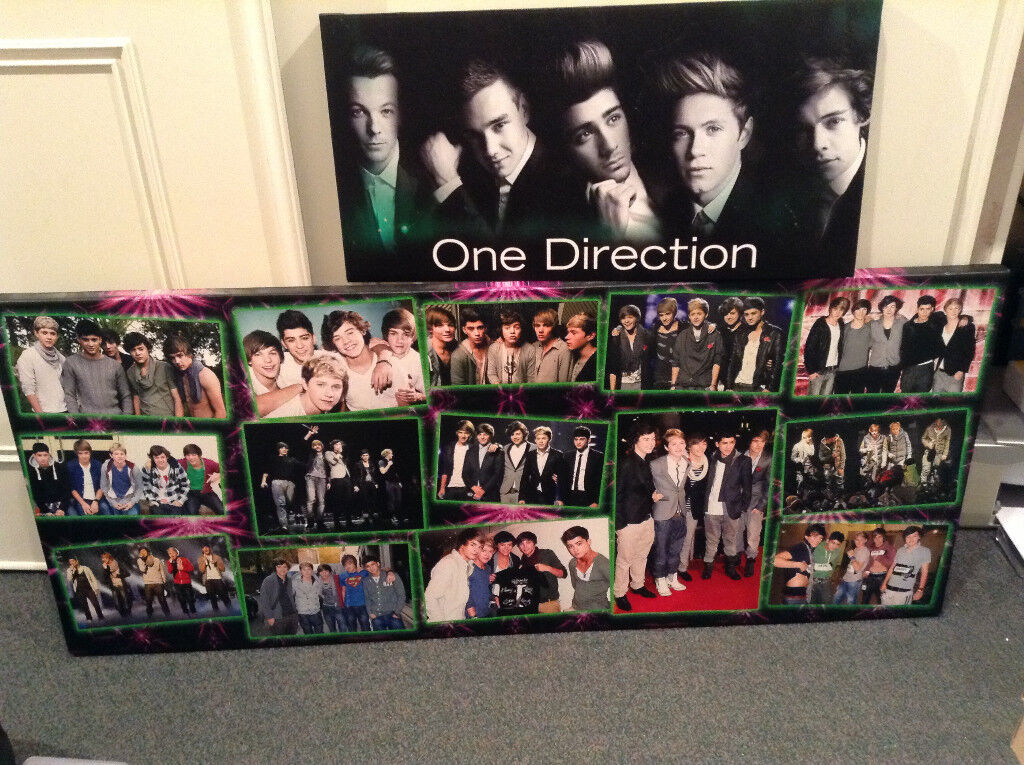 One Direction Canvas Picture Art Photo (2 In Total) £10 Total