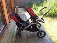 Excellent conditions baby jogger city select double
