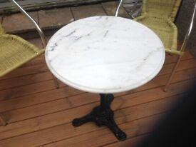 Marble bistro / garden table