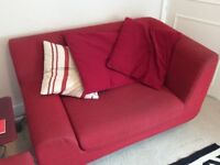 Habitat red fabric large armchair