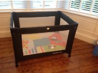 Travel cot / play pen with extra mattress and activity play mat