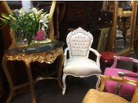 Beautiful white French style chair