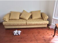 3 seater couch. 4 seater couch 2 upholstered chairs. The material can be machine washed