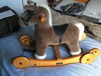Small rocking horse with wheels