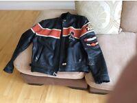 Harley Davidson leather bike jacket, size L