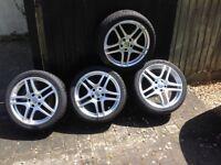 Mercedes style alloy wheels