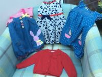 Two play suits/ Matching T Shirt/ Dress/ Cardigan/ 3-6 months/Great Condition/ Next, TU, Monsoon