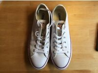 Cool Converse white leather trainers - as new - perfect for summer!