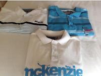 3 X men's Mckenzie polo shirts