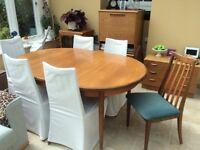 Original GPlan teak table & 6 chairs