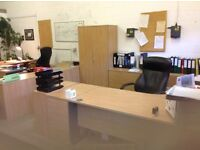 PRICES SLASHED FURTHER - AS MUST GO BY THIS WED.! Light -oak office furniture -