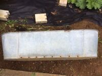 Large vintage galvanised bath ideal for use as a garden planter