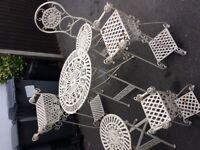 Wrought iron folding furniture