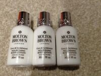 Brand New 3x 30ml Molton Brown Coco & Sandalwood Nourishing Body Lotions
