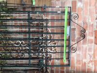 Wrought iron side security gate