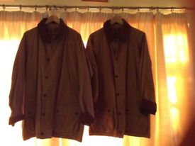 His and hers Beaufort Babour Jackets